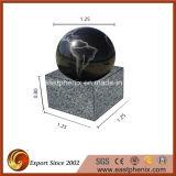 Black Granite Garden Water Ball Fountain