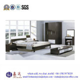 China Factory Bedroom Furniture Simple Double Wooden Bed (B16#)