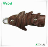Fish Shaped Leather USB Stick with 1 Year Warranty (WY-L17)