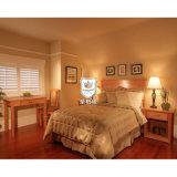 Nature Color Solid Pine Wood Hotel Bedroom Set Furniture