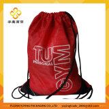 210d Red Polyester Nylon Drawstring Bag Backpack
