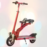 Portable 8 Inch Electric Folding Scooter Bike Skateboard with Seat