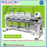 Holiauma 4 Head Tubular / Cap Embroidery Machine with Dahao 8′ Touch Screen Control System