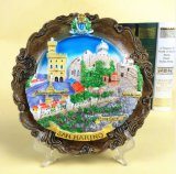 Hot Selling Italy Resin 3D Wall Hanging Souvenir Landscape Plate