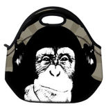 Chimpanzee Pattern Lunch Totefine Neoprene Material Waterproof Picnic Lunch Bag