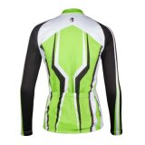 Green Fresh Fashion Customized Women Long Sleeve Cycling Jersey Quick Drying Breathable