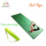 Green PU Natural Rubber Yoga Mat Superior Grip and Absorbent