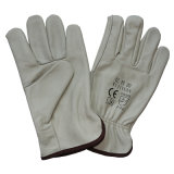 Wing Thumb Driving Safety Cow Grain Leather Work Gloves