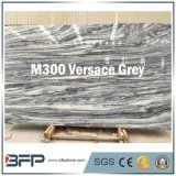 Versace Grey Natural Stone Onyx Marble for Countertop/Floor Tile