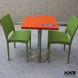 Restaurant Furniture Square Solid Surface Stone Marble Dining Table