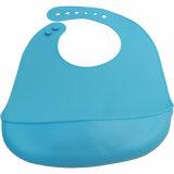 Blue W/O Printing Baby Clothes Food Grade Silicone Toddler Bib