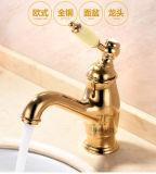 Luxury Single Handle Brass Bathroom Basin Mixer (Zf-802)