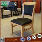 European Style Hotel Wooden Upholstery Fabric Soft Lounge Dining Chairs