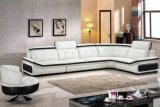 White Color Leather Sofa Modern Living Room Furniture (HX-SL027)