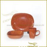 Three Colours Square Ceramic Tablewares