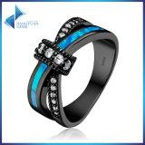 CZ Geometric Opal Gem for Women Wedding Jewelry 925 Sterling Silver Rings