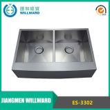 Handmade Es-3302 Farmhouse Stainless Steel Kitchen Bowl Sink