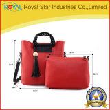 2 Pieces Bucket Bag Set PU Leather Women Handbag