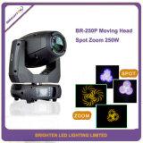Mini DMX-512 LED Lights 250W Moving Head Spot Zoom