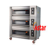 OEM New 3 Deck 6 Trays Commercial Gas Oven Cookie Baking Machine Bread Maker