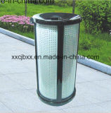 Round Park Metal Trash Container/Spare Parts Perforated Storage Bin