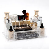 Transparent Acrylic Table Top Cosmetic Lipstick Storage Box