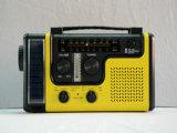 CE/RoHS/FCC Approved Siren Am/FM Frequency Dynamo Radio Solar