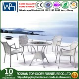 Garden Furniture Outdoor Rattan Dining Table Set with Cushion (TG-1216)