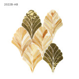New Design Home Kitchen Decoration Gold Glass Art Mosaic Tiles