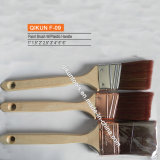 F-09 Wooden Handle Synthetic Filaments Paint Brush
