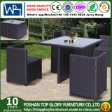 Outdoor Rattan Cube Chair Dining Set with Square Table for Garden (TG-668)