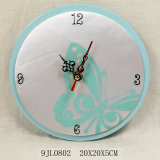 Wooden Butterfly Wall Clock in MDF