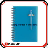 Spiral Bound PVC Ruled Line Notebook with Pen