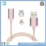 Universal 2 in 1 Nylon Braided Magnetic USB Multi Charger Data Transfer Cable for Android iPhone