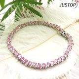 Wholesale Classic Pink Diamond Copper Bracelet for Women