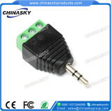 3.5mm Trs Male Stereo RCA Connector for CCTV Systems (CT137)