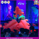 Beautiful inflatable Maple Leaf Flower Costume for Festival Stage Decoration