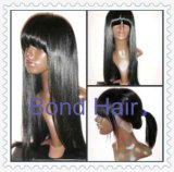 Brazilian Remy Human Hair Full Lace Wigs with Bangs