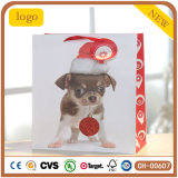 Puppy Design Christmas Baby Dog Paper Bag,