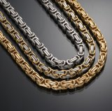 Wholesale Handmade 14K Gold Byzantine Chains Necklace Mjcn024