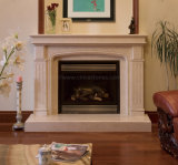 Fp006 Antique Fireplace Mantel Surround Stone Fireplace with Overmantel
