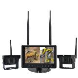 "Heavy Duty 2.4G Digital Wireless 7"" Quad Split Reverse Parking Camera Kit with Built-in DVR"