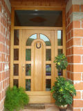 Durable Anti Corrossion Solid Wood Exterior Front Main Entrance Doors