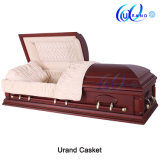 Solid Wood Burial Popular Dome Caskets Best Seller Casket and Coffin
