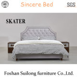 Modern American Style Fabric Bed Bedroom Furniture Sk13
