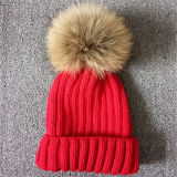 Fashion Knitted Hats with Fur POM Poms