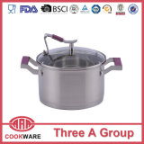 Stainless Steel Cookware with Silicone Handle