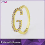 Wholesale 18k Gold CZ Jewelry Women Finger Ring