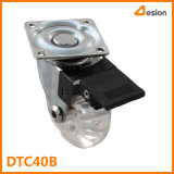 Transparent T Plate Wheel Caste with Brake