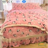 Wholesale Double Layers Super Thick Winter Bed Blanket Set